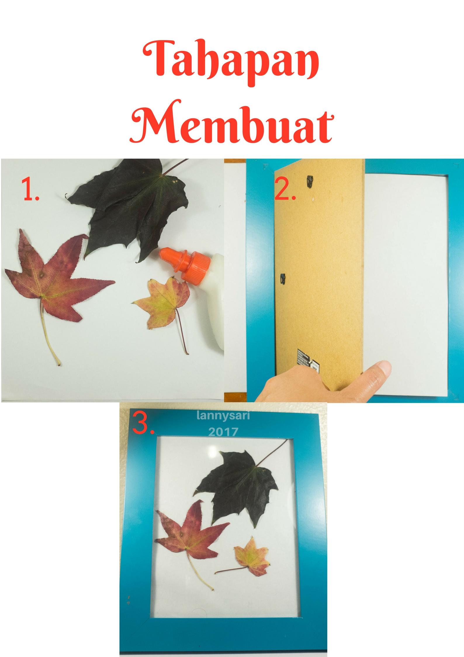 Cara Membuat Pigura Dari Karton : membuat, pigura, karton, Membuat, Dekorasi, Dengan, Dedaunan, Kering, LANNY