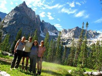 Mirror Lake below Lone Eagle peak, August 2011