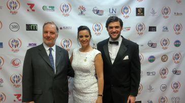 Gustavo Terrera, consul adjunto de Argentina, la periodista Nancy Clara y el politico Alfred Santamaria