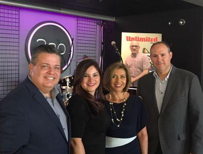 Armando Morales, Rosana Cantillo, Ivonne Fernandez y Adrian Núñez,