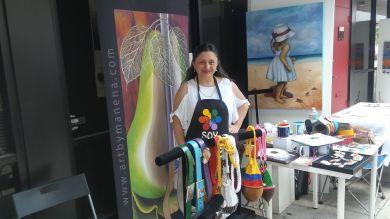 "Maria Elena Elvira ""Manena"", muestra el arte de ""Embajadores del Arte"