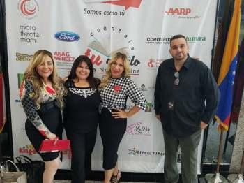 Marisol Casola, Jessica Sotolongo, Yolanda Pérez Martínez y Ahmed David Montero.