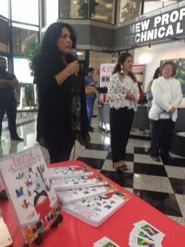 La escritora Masiel durante su participación.