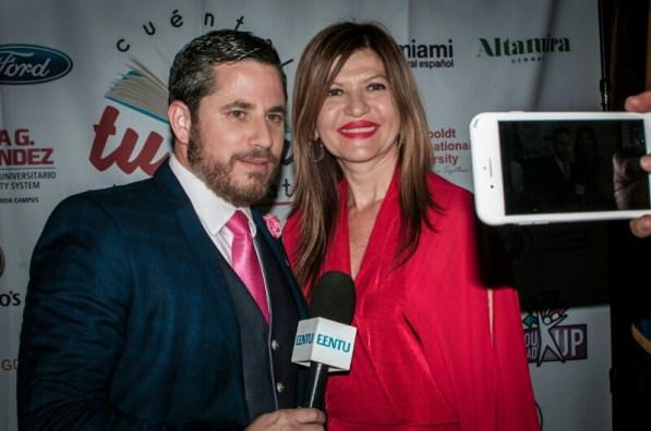 El periodista Dariel Fernández y Marybel Torres.