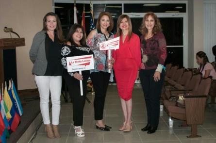 Xiomara Spadafora. Jessica Sotolongo, Cristina Paz, Marybel Torres y Mila Hajjar.