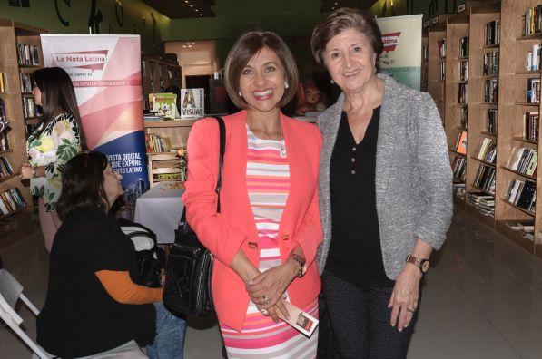 Ivonne Fernandez y la escritora Isabel García Cintas