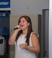 Rosana Cantillo durante su actuación.