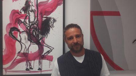 El pintor Jeans Paladino