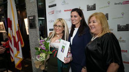 Marisol Casola, la Vicegobernadora Jenaette Nunez y Roxana Corcuera