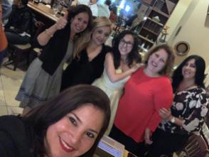 Rochy Cantillo, Liliana Bignes, Leidy Baldo Drelly Rios, Cynthia Lopez y Winna Santamaria