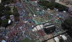 Multitudinaria marcha de camioneros en Buenos Aires