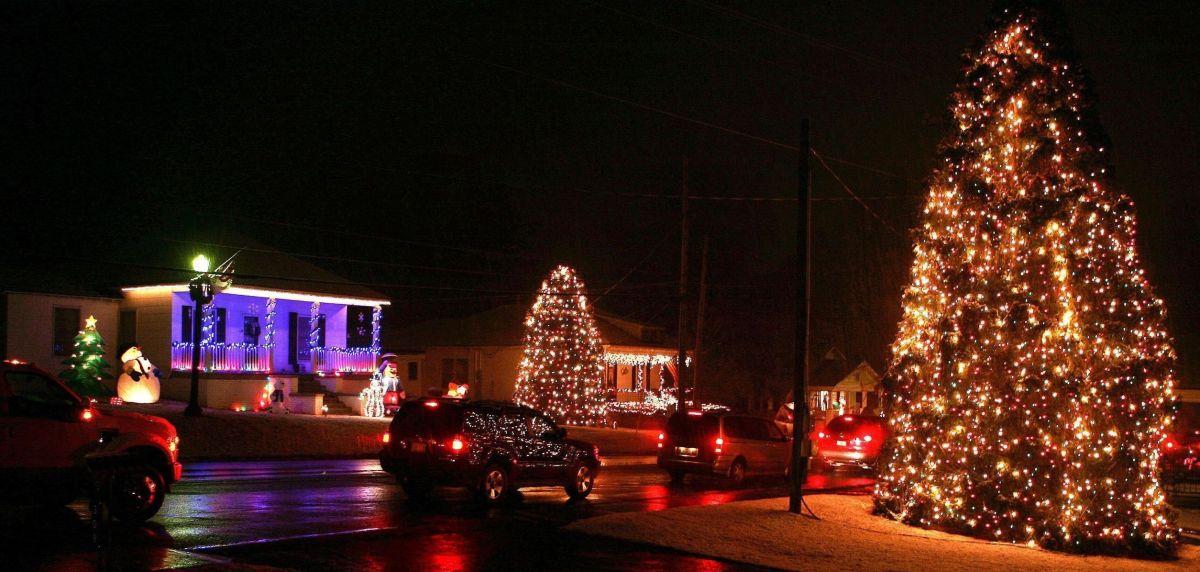 McAdenville, NC durante Christmas Town USA