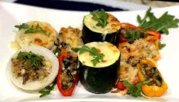 Vegetales rellenos al horno