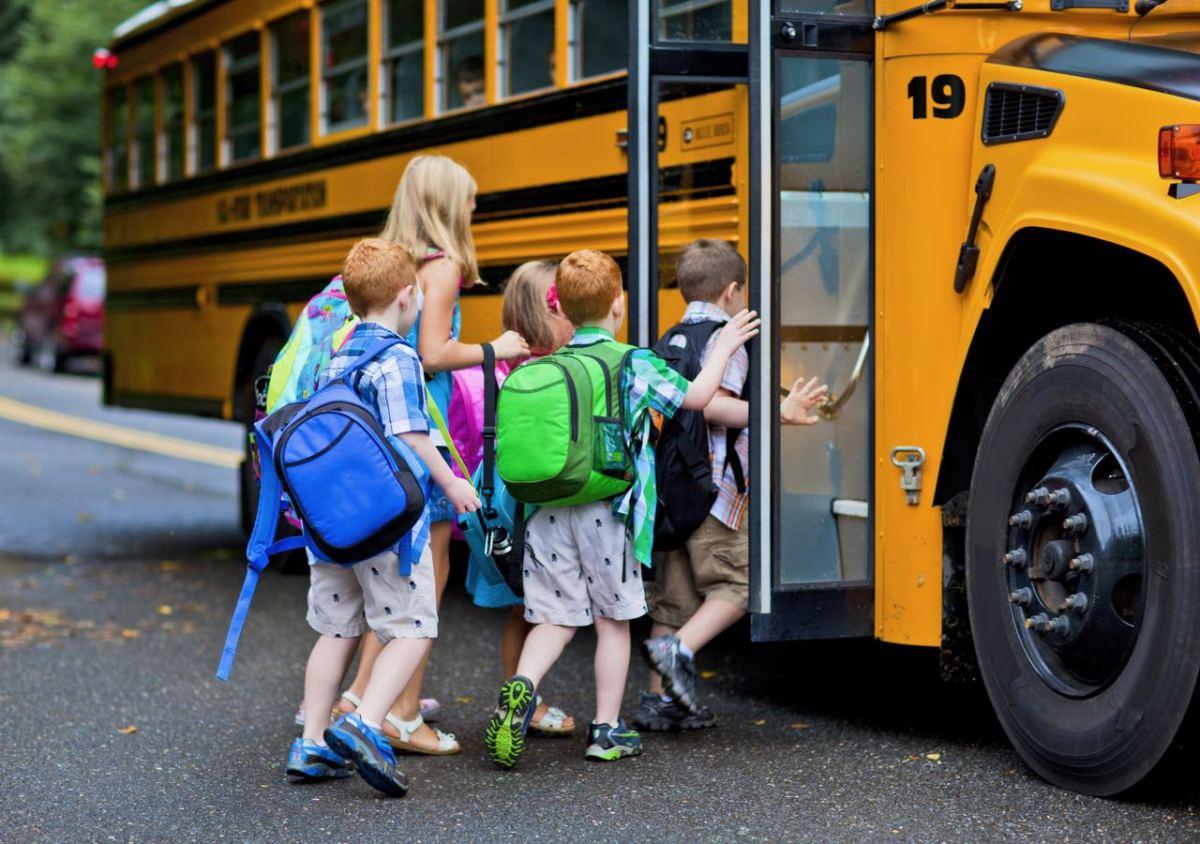 Ponga especial atención con los buses escolares cuando conduzca