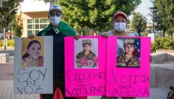 Manifestadores por Vanessa Guillén en Charlotte
