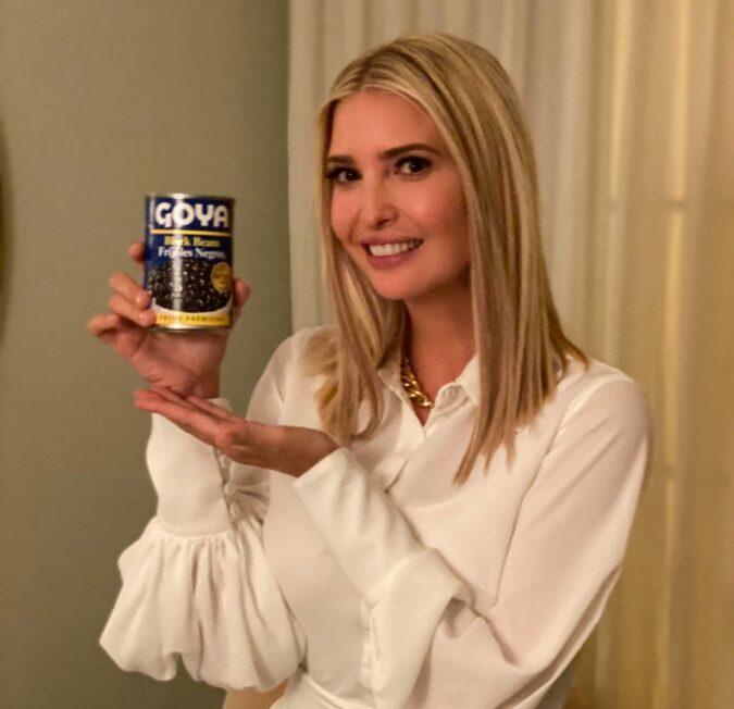 Tweet de Ivanka Trump sobre Goya Foods podria haber violado leyes federales de etica