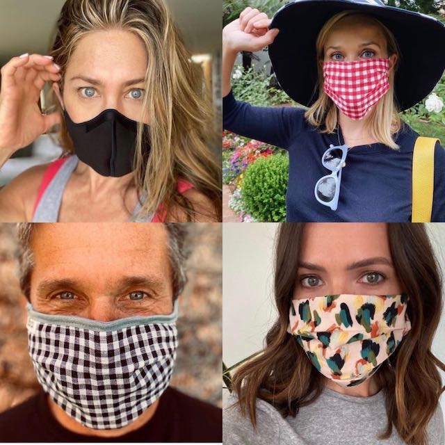 Celebridades promueven el uso de la mascarilla
