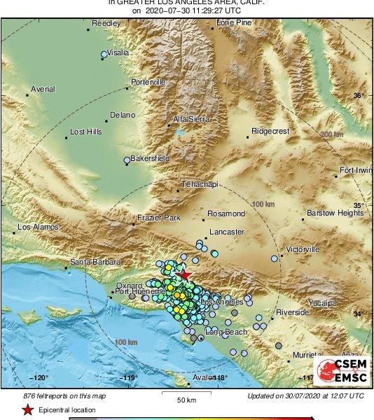 Terremoto sacude el Valle de San Fernando en California