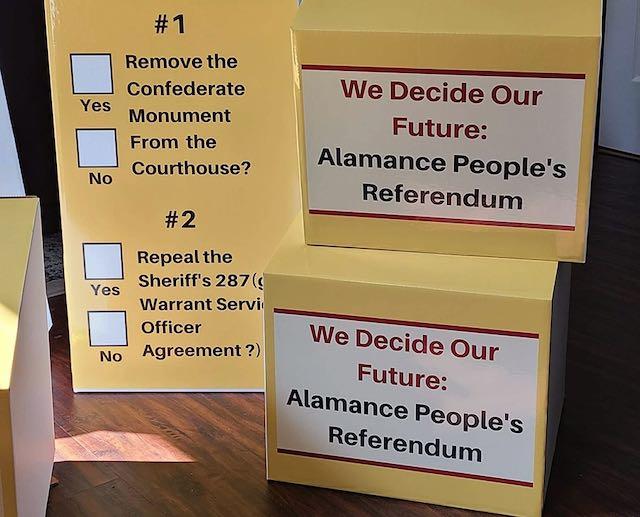 Activistas negros e inmigrantes organizan referéndum en el condado Alamance