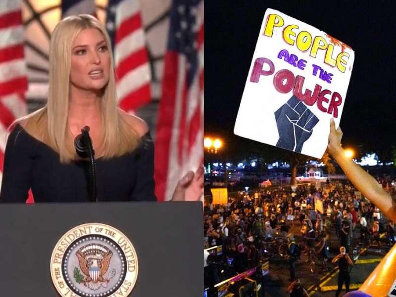 En discurso de Ivanka Trump se escucharon sonidos por protesta