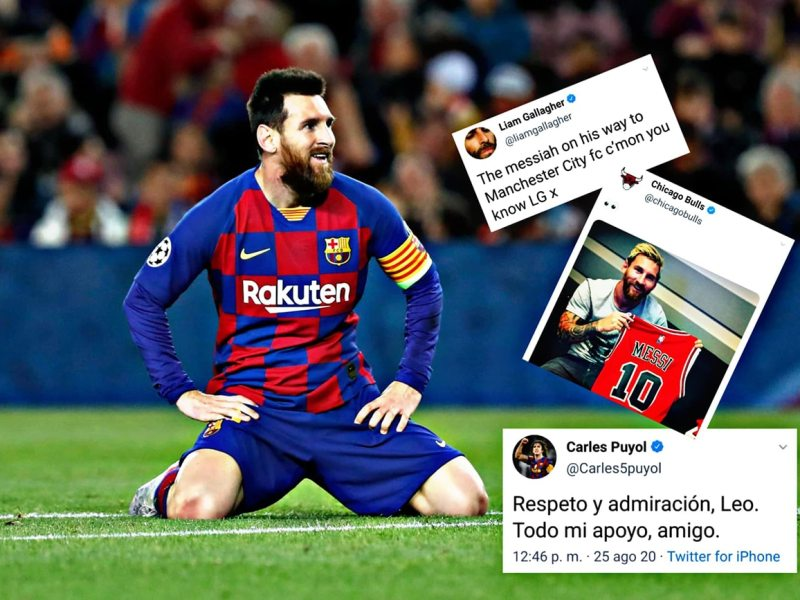 Messi, reacciones de su salida