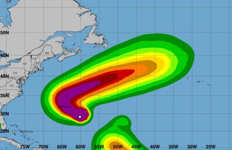 Huracán Paulette en Bermuda