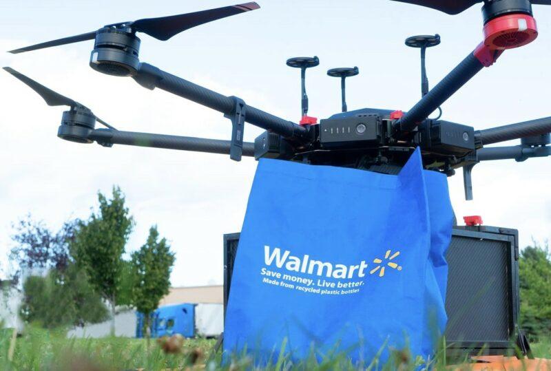 Wallmart prueba sus drones