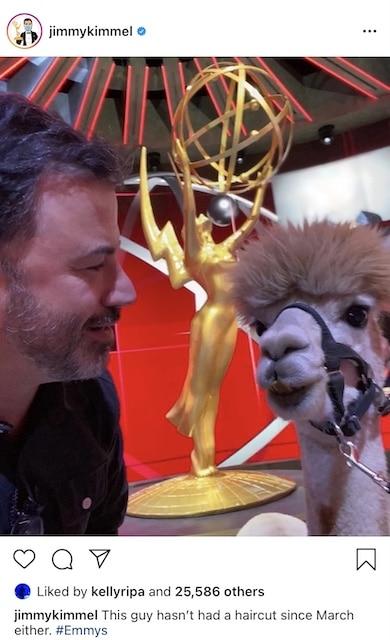 Jimmy Kimmel ama el caos y él espera que algo salga mal en los Emmy