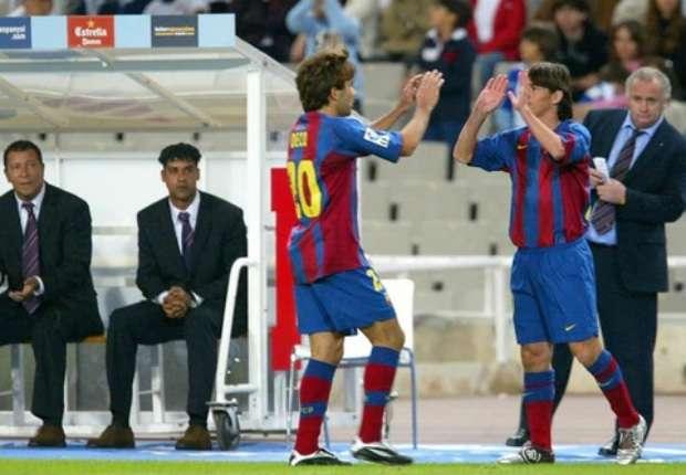 El debut de Messi con el Barcelona