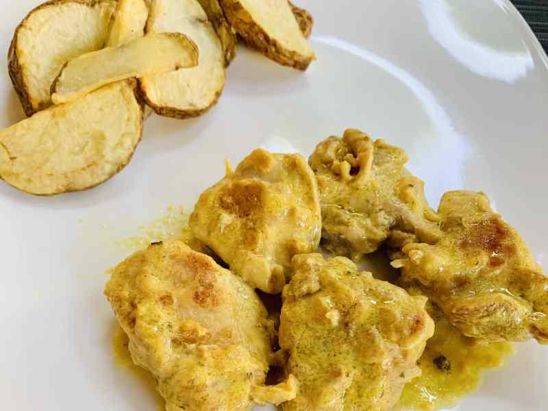 delicioso pollo a la mostaza