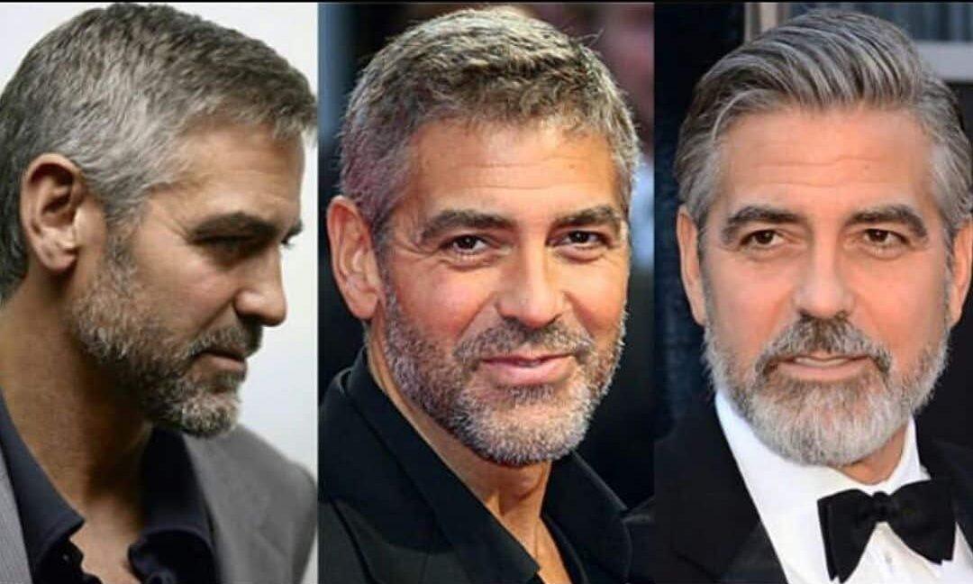 George Clooney se corta él mismo el cabello
