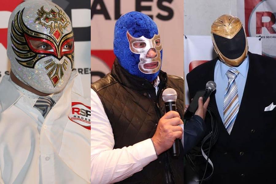 Carístico, Blue Demon Jr., Tinieblas Jr.