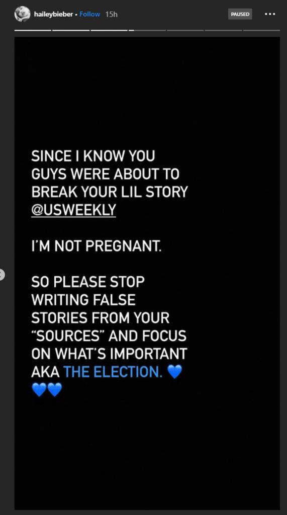 Hailey Bieber habló sobre su embarazo
