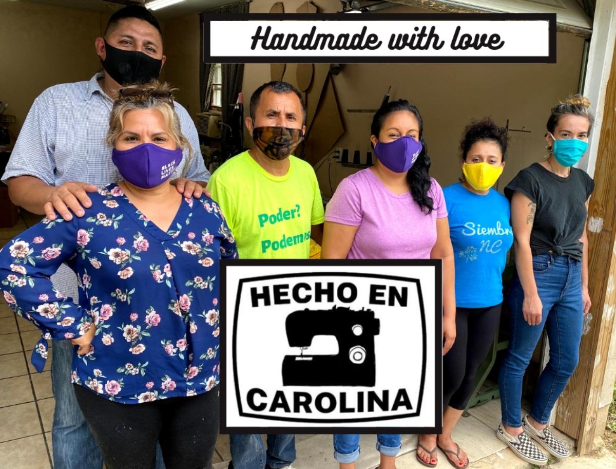 Inmigrantes venden mascarillas Carolina del Norte