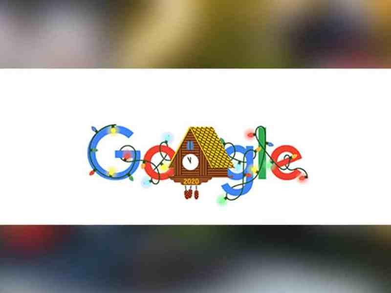 Doodle de Google empieza a celebrar la Nochevieja