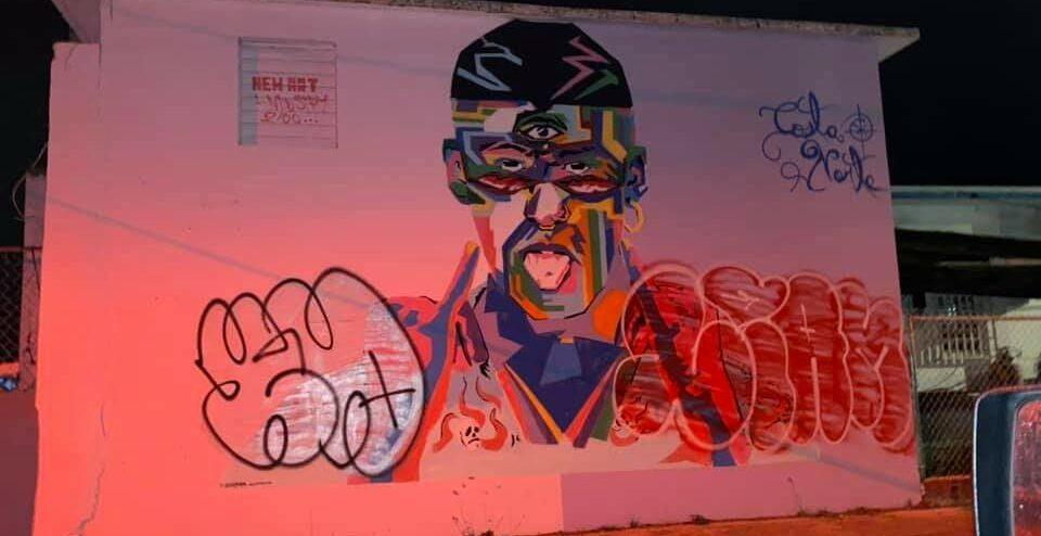 Destruyen mural de Bad Bunny en Puerto Rico