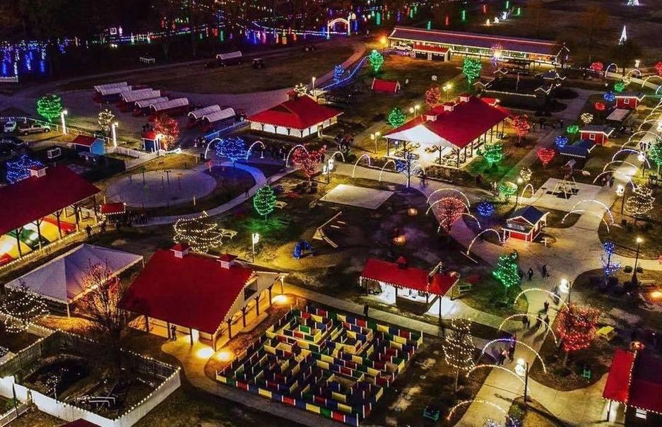 Las mejores exhibiciones de luces navideñas en el Tríangulo