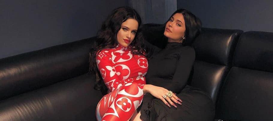 Rosalía cena navideña kardashian son amigas