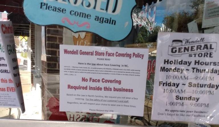 Wendell: tienda pide a clientes no usar mascarilla
