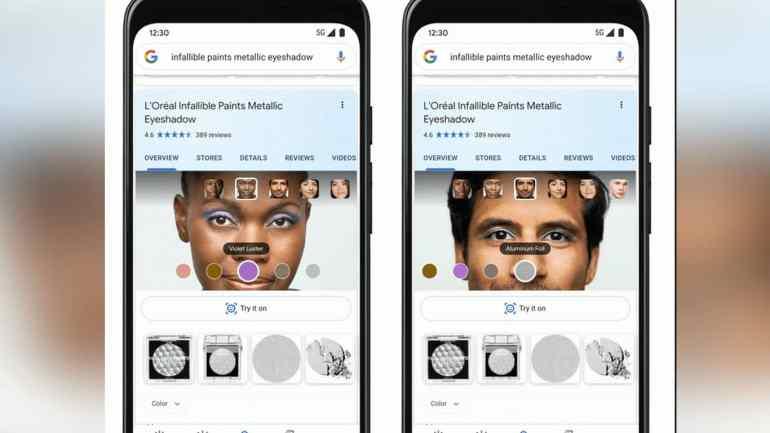 Google ahora permite probar maquillaje en línea