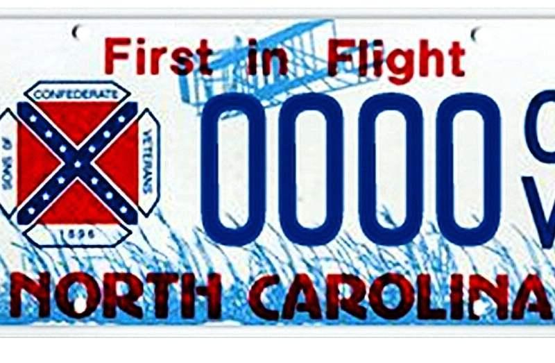 Placas bandera confederada
