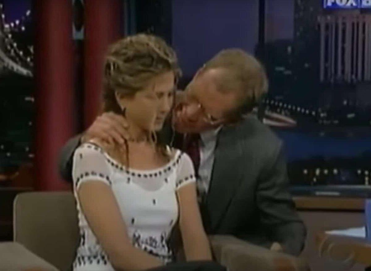 David Letterman le chupó el cabello a Jennifer Aniston