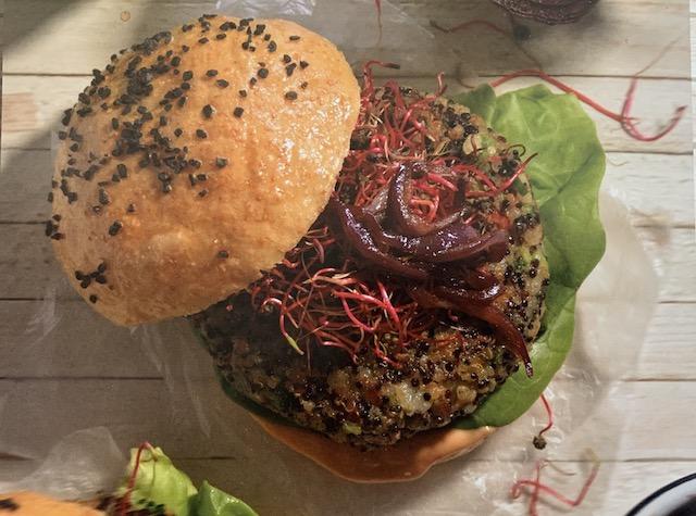 Hamburguesa de vegana de quinoa