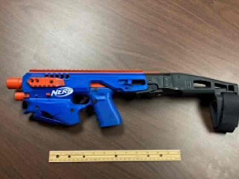 Pistola Nerf juguete