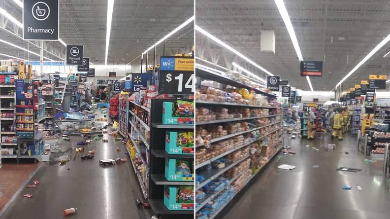 Ex empleado conduce vehículo dentro de Walmart en Concord