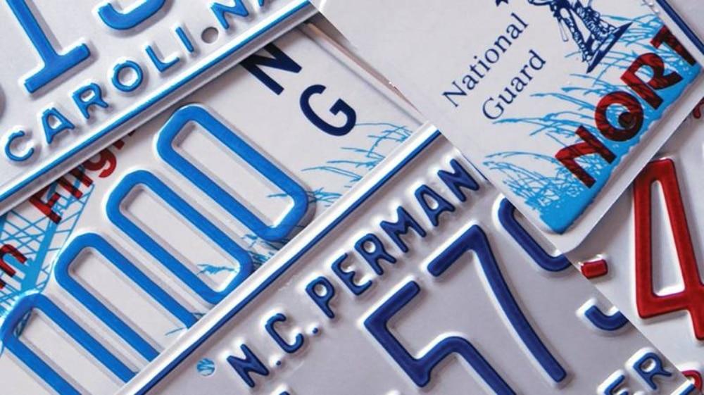 matrículas aluminio