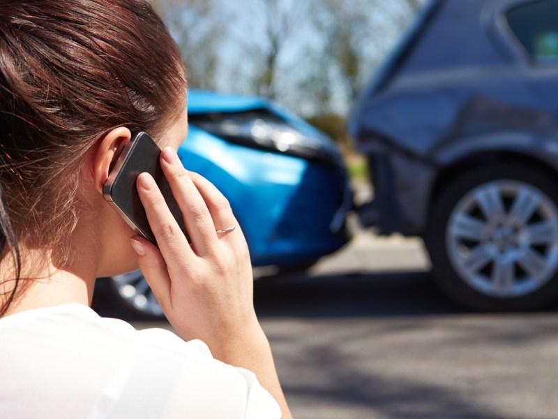 Accidente teléfono