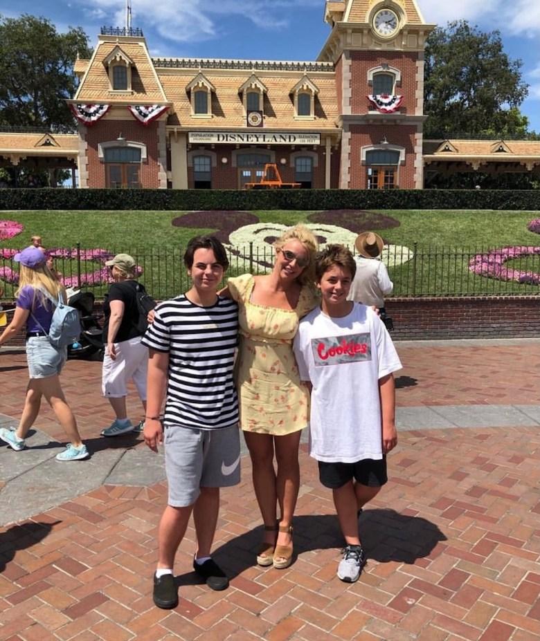 Los hijos de Britney Spears ya crecieron