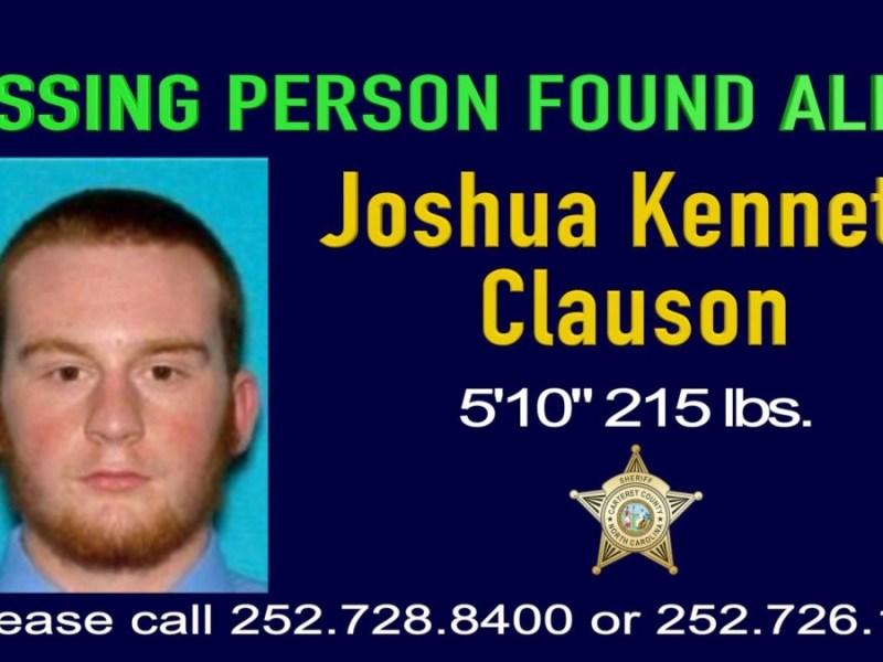 Hallan a hombre desaparecido después de 8 noches en el bosque en Carolina del Norte