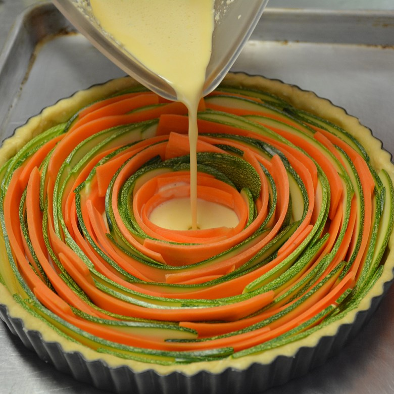 Deliciosa tarta de vegetales para el desayuno o almuerzo